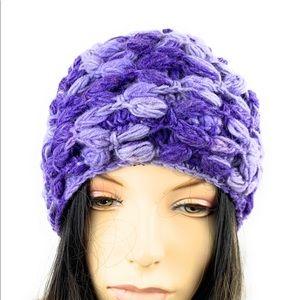 Crochet woolen beanie